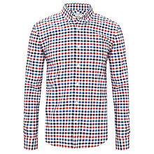 Buy John Lewis Large Tattersall Oxford Check Shirt, Red/Blue Online at johnlewis.com