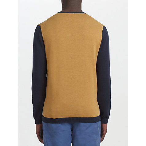 Buy Kin by John Lewis Cotton Block Crew Neck Jumper, Navy Online at johnlewis.com