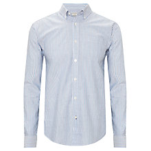 Buy John Lewis Oxford Stripe Long Sleeve Shirt, Blue Online at johnlewis.com