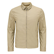 Buy John Lewis Lightweight Cotton Harrington Jacket, Stone Online at johnlewis.com