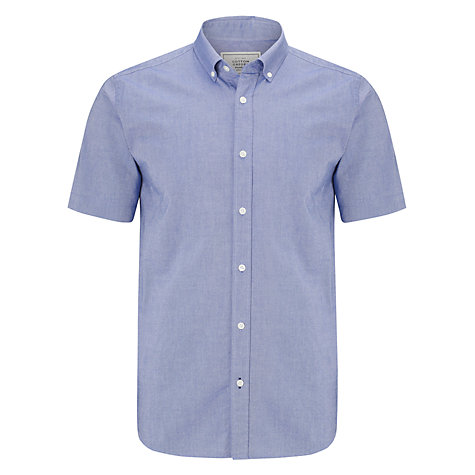 Buy John Lewis Short Sleeve Oxford Shirt, Blue Online at johnlewis.com