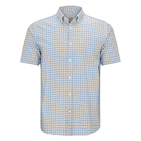 Buy John Lewis Tattersall Short Sleeve Oxford Shirt Online at johnlewis.com
