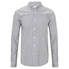 Buy John Lewis Mini Tattersall Oxford Long Sleeve Shirt, Natural Online at johnlewis.com
