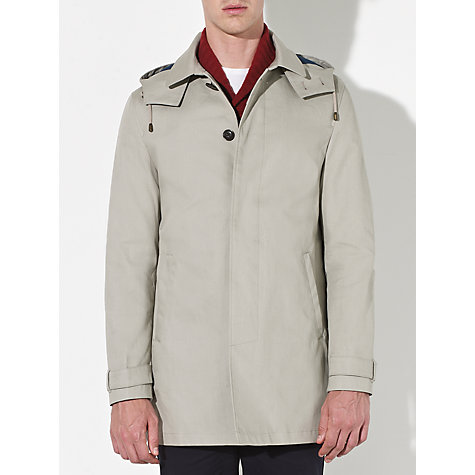 Buy Kin by John Lewis Detachable Hood Coat, Stone Online at johnlewis.com