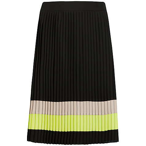 Buy Ted Baker Trudi Colour Block Skirt, Black Online at johnlewis.com