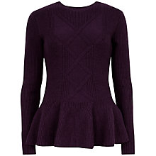 Buy Ted Baker Peplum Detail Jumper Online at johnlewis.com
