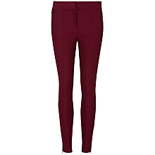 Buy Ted Baker Ceeke Contrast Trim Leggings, Oxblood Online at johnlewis.com