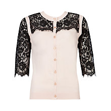 Buy Ted Baker Gwuna Lace Detail Cardigan Online at johnlewis.com