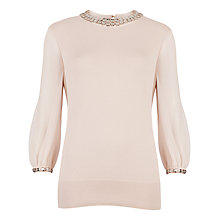 Buy Ted Baker Embellished Neck Jumper Online at johnlewis.com