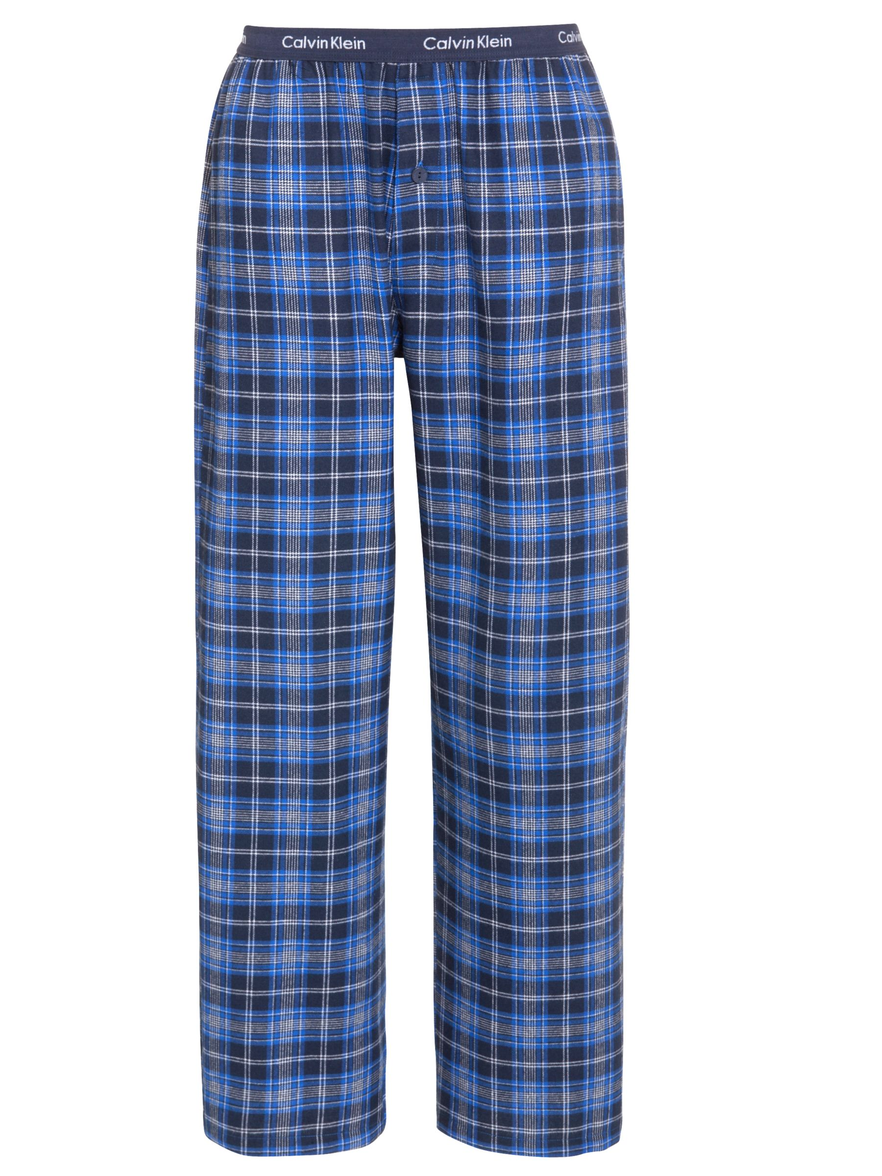 Calvin Klein Woven Traditional Stripe Pyjama Pants, Blue/Grey