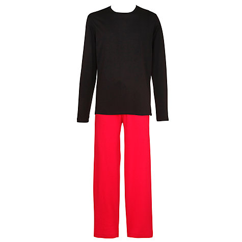 Buy Polo Ralph Lauren Cotton Loungewear Set, Black/Red Online at johnlewis.com