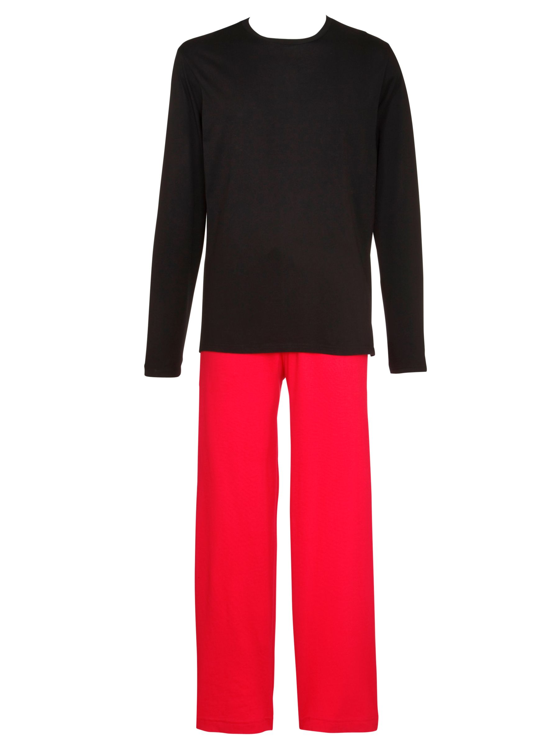 Polo Ralph Lauren Cotton Loungewear Set, Black/Red