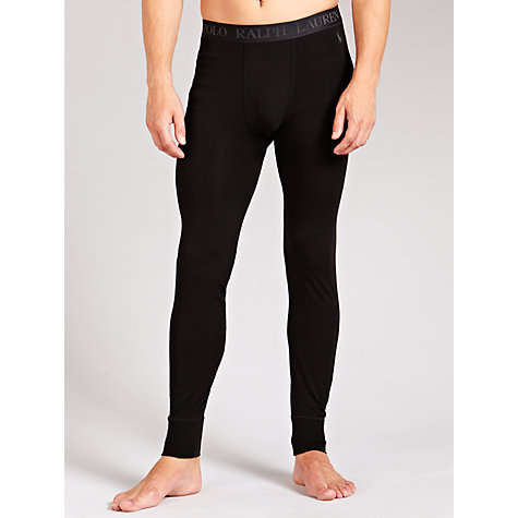 Buy Polo Ralph Lauren Plain Long Johns, Black Online at johnlewis.com