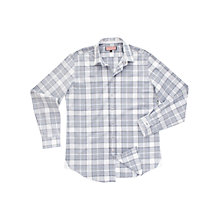 Buy Thomas Pink Herschel Check Long Sleeve Shirt, Navy/White Online at johnlewis.com