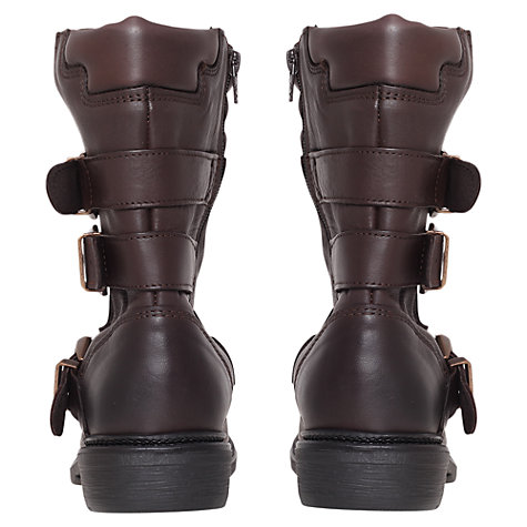 Buy KG by Kurt Geiger Shout Biker Boots, Brown Online at johnlewis.com