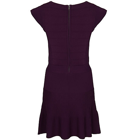 Buy French Connection Polly Pleat Dress, Cherry Tonic Online at johnlewis.com