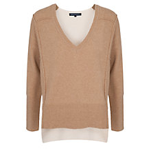 Buy French Connection Two Tone Jumper, Neutral Online at johnlewis.com