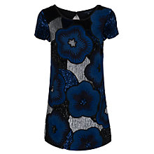 Buy French Connection Fauna Dress, Electric Blue Mix Online at johnlewis.com