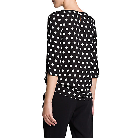 Buy Mango Polka Dot Crepé Blouse, Black Online at johnlewis.com