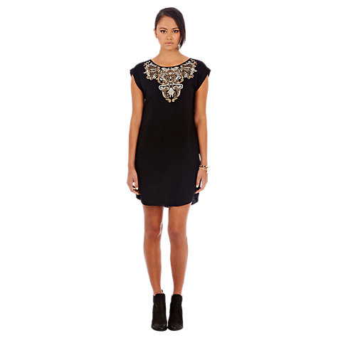 Buy Warehouse Embroidered Shift Dress Online at johnlewis.com