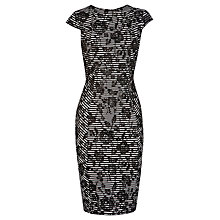 Buy Warehouse Bonded Lace Dress, Black Online at johnlewis.com