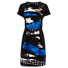 Buy Warehouse Textured Piped Dress, Multi Online at johnlewis.com