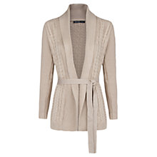 Buy Mango Cable Knit Belted Cardigan Online at johnlewis.com