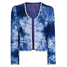 Buy Mango Tie Dye Print Jacket, Medium Blue Online at johnlewis.com