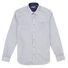 Buy Ted Baker Spotrok Shirt, White/Navy Online at johnlewis.com