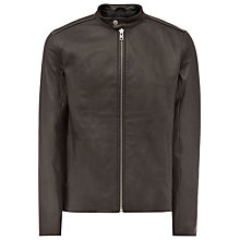 Buy Reiss Knox Leather Biker Jacket Online at johnlewis.com