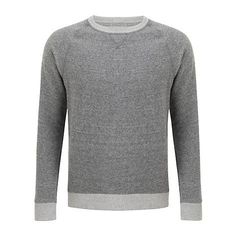 Buy Selected Homme Morris Crew Neck Jumper, Light Grey Melange Online at johnlewis.com