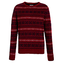 Buy Selected Homme Lanes Crew Neck Jumper, Red Online at johnlewis.com