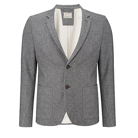 Buy Selected Homme William Flecked Tweed Blazer, Grey Online at johnlewis.com