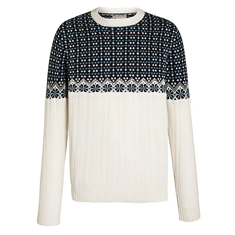 Buy Selected Homme Mickey Crew Neck Jumper, White Online at johnlewis.com