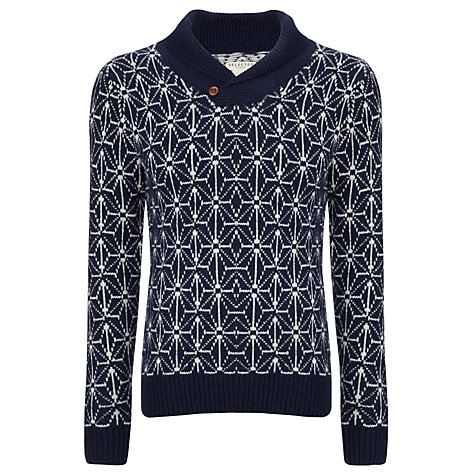 Buy Selected Homme Glass Shawl Neck Jumper, Blue Online at johnlewis.com