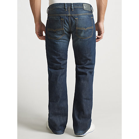 Buy Diesel Zatiny Regular Bootcut Leg Jeans, Mid Blue Clean Online at johnlewis.com