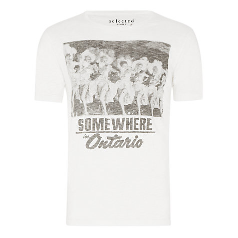 Buy Selected Homme Out West Cotton Tee Online at johnlewis.com