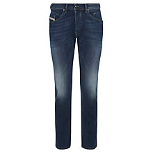 Buy Diesel Belther Regular Slim Leg Jeans, Mid Blue Online at johnlewis.com