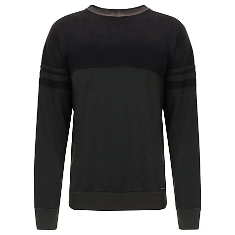 Buy Diesel S-Barclay Sweatshirt, Black/Khaki Online at johnlewis.com