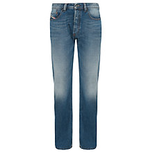 Buy Diesel Larkee Relaxed Straight Leg Jeans, Stone Wash Online at johnlewis.com