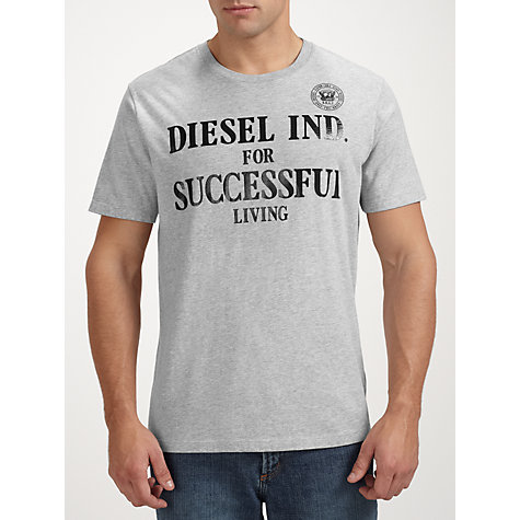 Buy Diesel Successful Living Slogan T-Shirt Online at johnlewis.com
