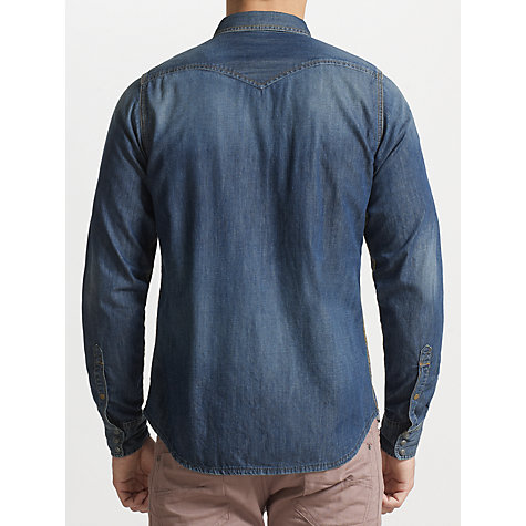 Buy Diesel Sonora Long Sleeve Denim Shirt, Denim Blue Online at johnlewis.com