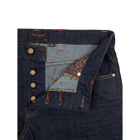 Buy Ted Baker Obsign Straight Jeans, Rinse Denim Online at johnlewis.com
