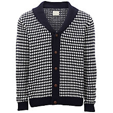 Buy Selected Homme Dotted Shawl Neck Cardigan, Blue Online at johnlewis.com