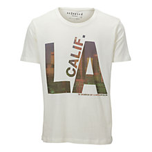 Buy Selected Homme City Cotton Tee, White Online at johnlewis.com