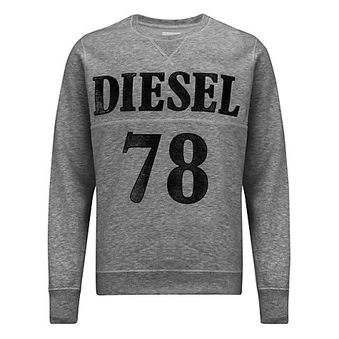 Buy Diesel Serge Printed Cotton Sweatshirt Online at johnlewis.com