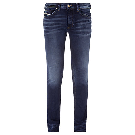 Buy Diesel Thavar Jogg Skinny Tapered Jeans, Mid Blue Washed Online at johnlewis.com