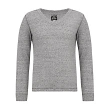 Buy Diesel T-Frak Long Sleeve Jersey Top, Grey Online at johnlewis.com