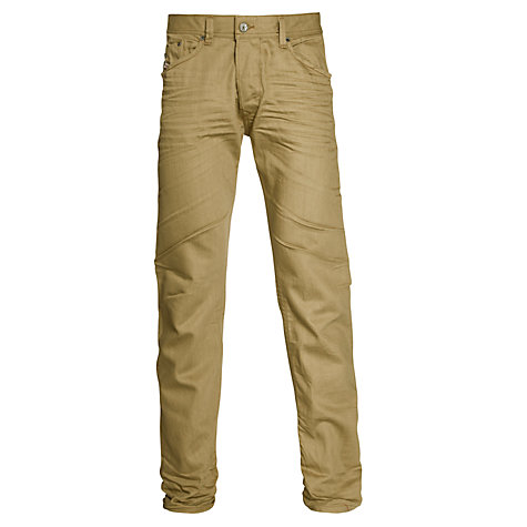 Buy Diesel Darron 79E Regular Tapered Jeans, Tan Online at johnlewis.com