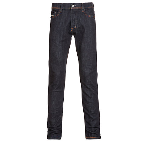 Buy Diesel Tepphar Tapered Slim Fit Jeans, Raw Indigo Online at johnlewis.com